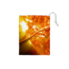 Solar Flare 2 Drawstring Pouches (small)  by trendistuff