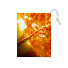 Solar Flare 2 Drawstring Pouches (medium)  by trendistuff