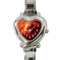 Solar Flare 1 Heart Italian Charm Watch by trendistuff