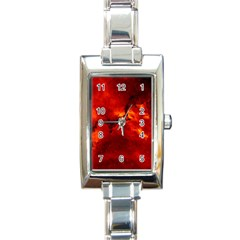 Rosette Nebula 2 Rectangle Italian Charm Watches by trendistuff