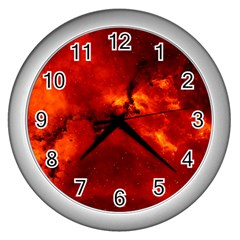 Rosette Nebula 2 Wall Clocks (silver)  by trendistuff