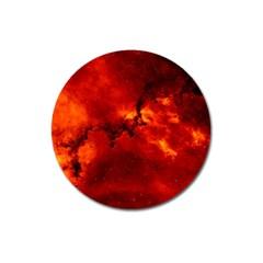 Rosette Nebula 2 Magnet 3  (round) by trendistuff