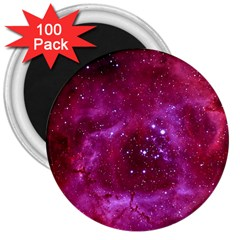 Rosette Nebula 1 3  Magnets (100 Pack) by trendistuff