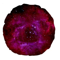Rosette Nebula 1 Large 18  Premium Flano Round Cushions by trendistuff