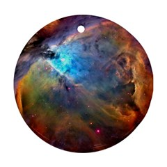 ORION NEBULA Round Ornament (Two Sides)  by trendistuff