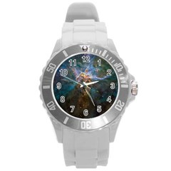 Mystic Mountain Round Plastic Sport Watch (l) by trendistuff
