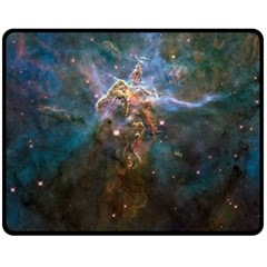 Mystic Mountain Double Sided Fleece Blanket (medium)  by trendistuff