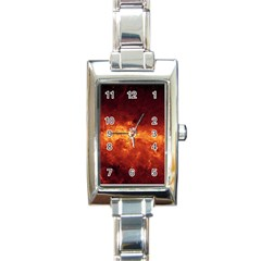 Milky Way Clouds Rectangle Italian Charm Watches by trendistuff