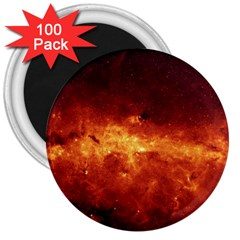 Milky Way Clouds 3  Magnets (100 Pack) by trendistuff