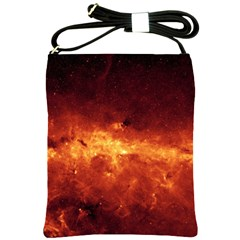 Milky Way Clouds Shoulder Sling Bags by trendistuff