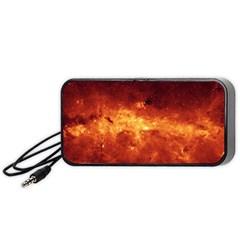 Milky Way Clouds Portable Speaker (black)  by trendistuff