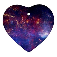 Milky Way Center Ornament (heart)  by trendistuff