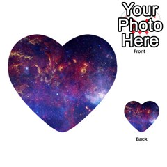 Milky Way Center Multi Purpose Cards (heart)