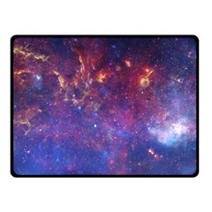 Milky Way Center Fleece Blanket (small) by trendistuff