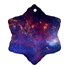 Milky Way Center Snowflake Ornament (2 Side) by trendistuff