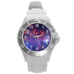 Milky Way Center Round Plastic Sport Watch (l) by trendistuff