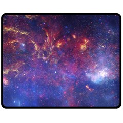Milky Way Center Double Sided Fleece Blanket (medium)  by trendistuff