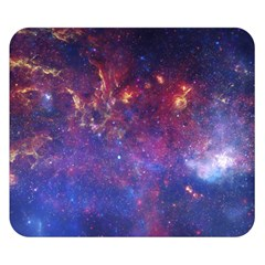 Milky Way Center Double Sided Flano Blanket (small)  by trendistuff