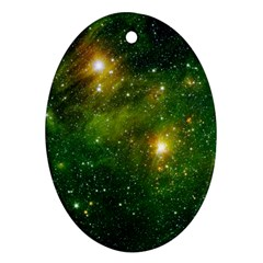 Hydrocarbons In Space Oval Ornament (two Sides) by trendistuff