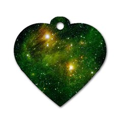 Hydrocarbons In Space Dog Tag Heart (one Side) by trendistuff
