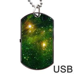 Hydrocarbons In Space Dog Tag Usb Flash (one Side) by trendistuff