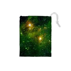 Hydrocarbons In Space Drawstring Pouches (small)  by trendistuff