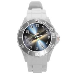 Hidden Black Hole Round Plastic Sport Watch (l) by trendistuff