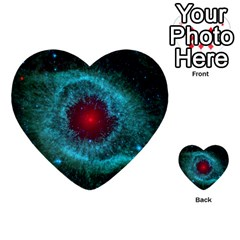 Helix Nebula Multi Purpose Cards (heart)  by trendistuff