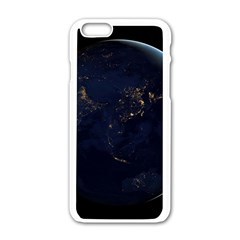 Global Night Apple Iphone 6/6s White Enamel Case by trendistuff