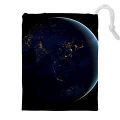 Global Night Drawstring Pouches (xxl) by trendistuff