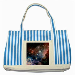 Carina Nebula Striped Blue Tote Bag  by trendistuff