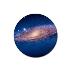 Andromeda Rubber Round Coaster (4 Pack)  by trendistuff