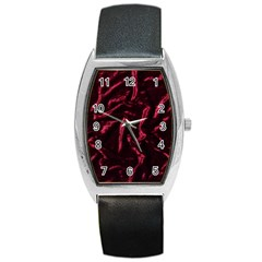 Luxury Claret Design Barrel Metal Watches