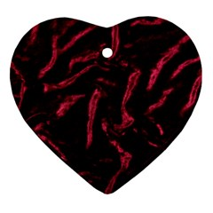 Luxury Claret Design Heart Ornament (2 Sides) by Costasonlineshop