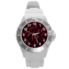 Luxury Claret Design Round Plastic Sport Watch (l) by Costasonlineshop