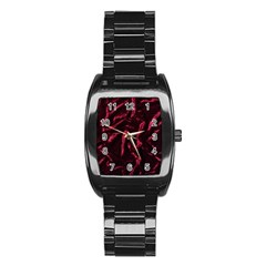 Luxury Claret Design Stainless Steel Barrel Watch