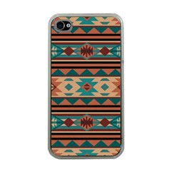 Southwest Design Turquoise And Terracotta Apple Iphone 4 Case (clear) by SouthwestDesigns