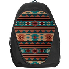 Southwest Design Turquoise And Terracotta Backpack Bag by SouthwestDesigns