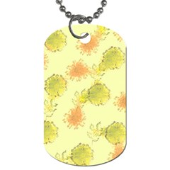 Shabby Floral 1 Dog Tag (two Sides) by MoreColorsinLife