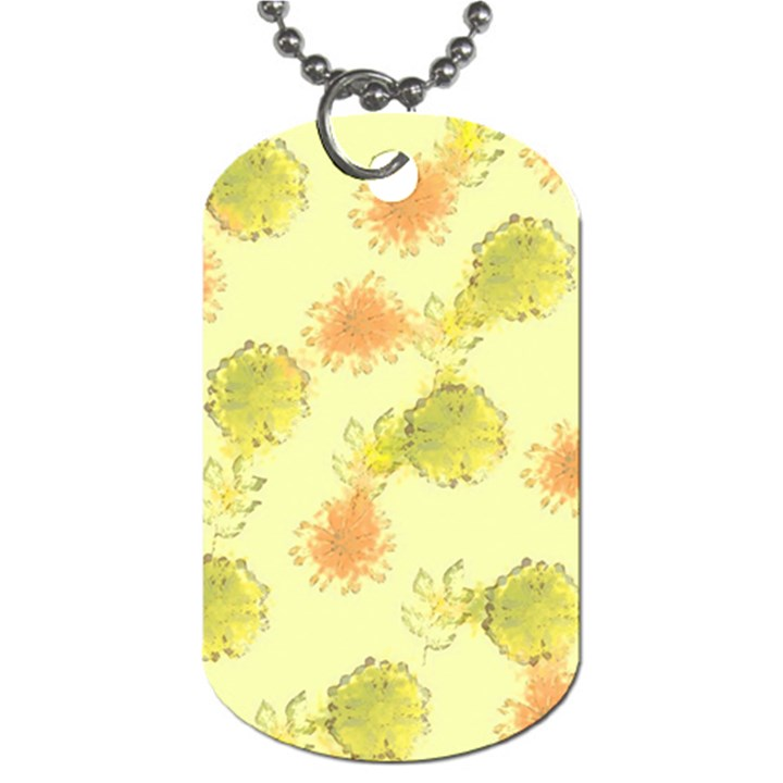 Shabby Floral 1 Dog Tag (Two Sides)