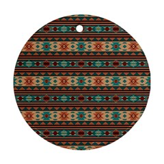 Southwest Design Turquoise And Terracotta Ornament (round)  by SouthwestDesigns