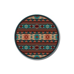 Southwest Design Turquoise And Terracotta Rubber Round Coaster (4 Pack)  by SouthwestDesigns