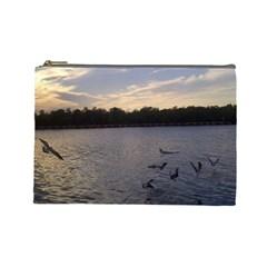 Intercoastal Seagulls 3 Cosmetic Bag (large)  by Jamboo