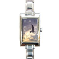 Seagull 1 Rectangle Italian Charm Watches by Jamboo