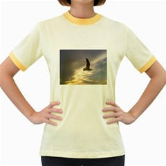 Seagull 1 Women s Fitted Ringer T Shirts by Jamboo
