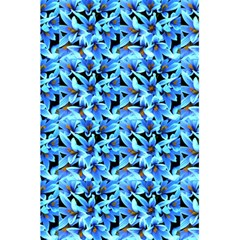 Turquoise Blue Abstract Flower Pattern 5 5  X 8 5  Notebooks by Costasonlineshop