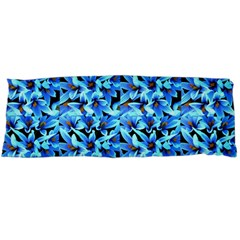 Turquoise Blue Abstract Flower Pattern Body Pillow Cases Dakimakura (Two Sides)  by Costasonlineshop