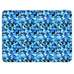 Turquoise Blue Abstract Flower Pattern Samsung Galaxy Tab 7  P1000 Flip Case