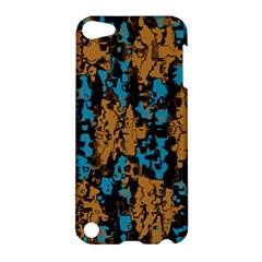 Blue Brown Texture			apple Ipod Touch 5 Hardshell Case by LalyLauraFLM
