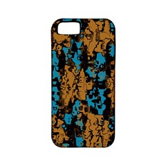 Blue Brown Texture			apple Iphone 5 Classic Hardshell Case (pc+silicone) by LalyLauraFLM